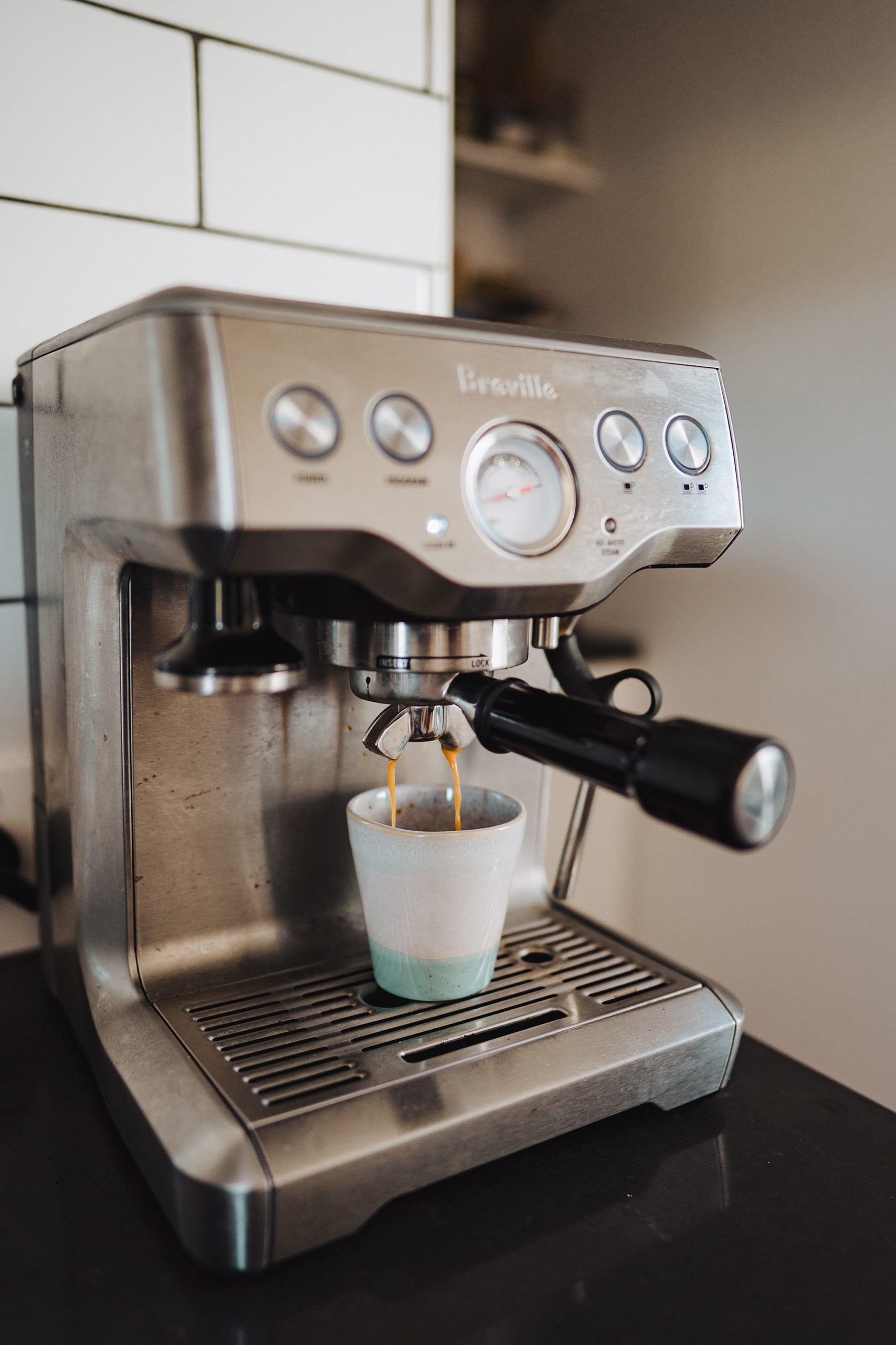 making an espresso