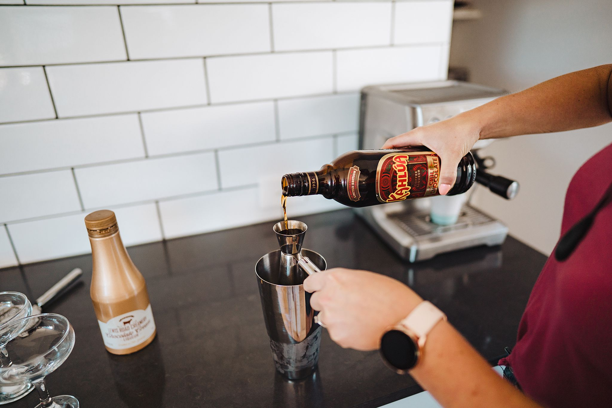 adding kahlua to cocktail