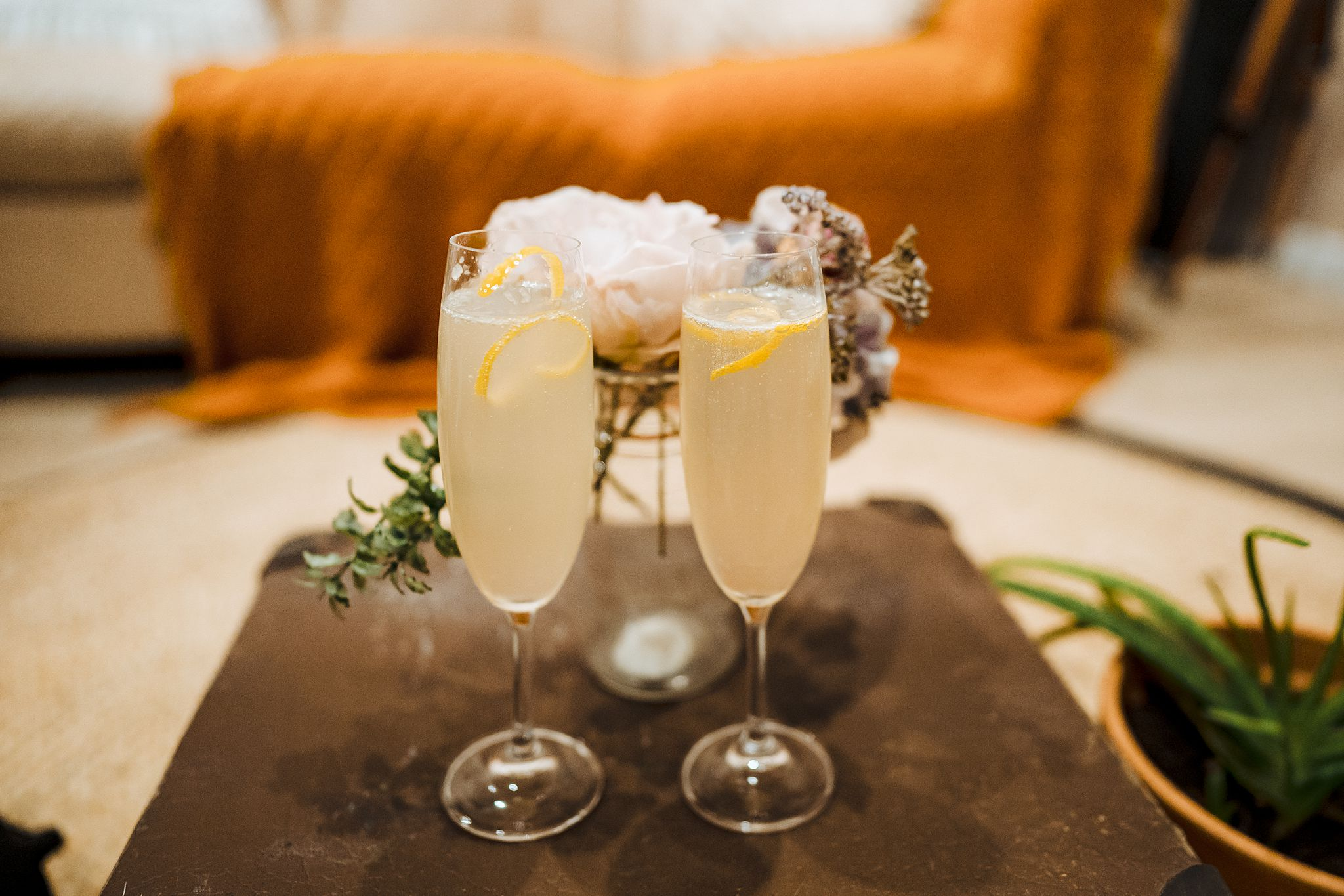 French 75 cocktail made with Queenstown winery bubbles